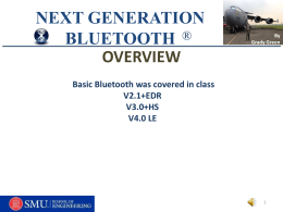 NEXT GENERATION BLUETOOTH