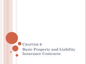 Chapter 9 Basic Property and Liability Insurance