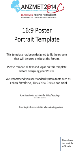 16:9 Poster Portrait Template