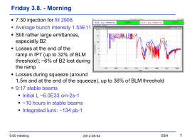 9:00 meeting - LHC commissioning