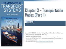 Chapter 3 - Transportation Modes