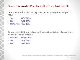 Collaboratory Grand Rounds poll results: 3/28