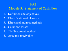 FA2 Module 3. Cash Flow Statement