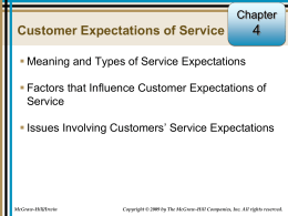 Factors That Influence Desired Service