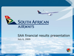 SAA financial results presentation