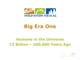 Big Era 1 - World History for Us All