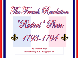 French Revolution II: The Radical Phase