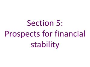 Section 5 * Prospects for Financial Stability