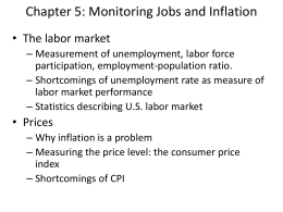 Ch.5: Monitoring Jobs and Inflation