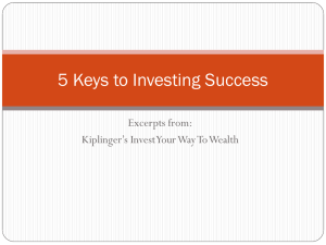 5 Keys to Investing Success