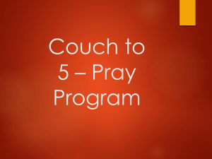 Couch To 5 * Pray Program