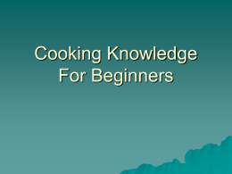 Cooking Knowledge For Beginners