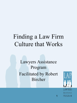 Finding a Law Firm Culture that Works