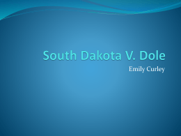 South Dakota V. Dole
