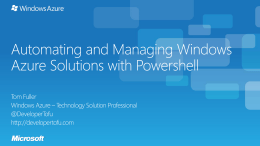 Automating-and-Managing-Windows-Azure-Solutions