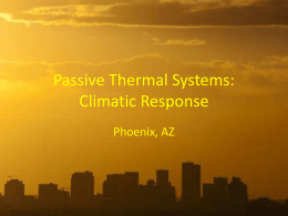 Passive Thermal Systems: Phoenix AZ