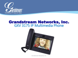 gxv3175_slides - Grandstream Networks