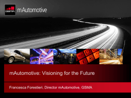 mAutomotive: Visioning for the Future