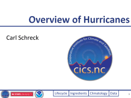 Overview of Hurricanes