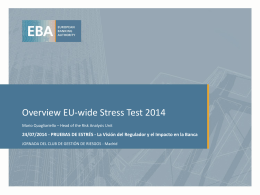 Overview EU-wide Stress Test 2014