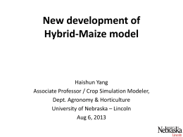 Update on Hybrid N-Maize model for making N recommendations