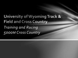 training and racing 5000m cross country