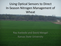 Using Optical Sensors to Direct In