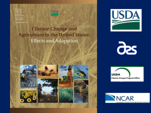 Climate Change and Agriculture - Agricultural Research Service