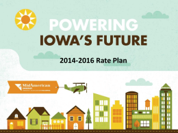 Rate Presentation 4913 IIEG - Iowa Industrial Energy Group
