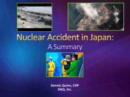 The Fukushima Nuclear Accident