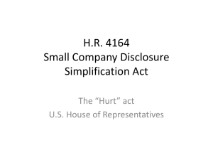H.R. 4164 Small Company Disclosure Simplification Act