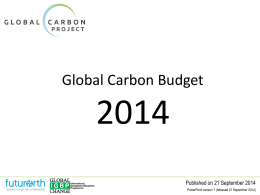PowerPoint - Global Carbon Project