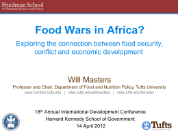 Food Wars in Africa?
