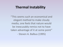 Thermal Instability presentation