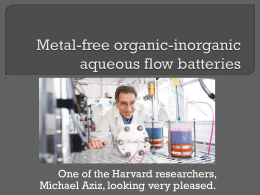 Metal-free organic-inorganic aqueous flow batteries