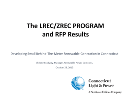 The LREC/ZREC PROGRAM - Raab Associates, Ltd.