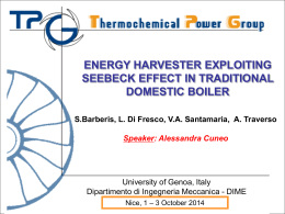 Energy Harvester exploiting Seebeck effect in traditional domestic