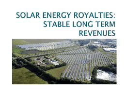 solar energy royalties