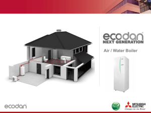 Air / Water Boiler - Mitsubishi electric