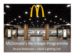 McDonald*s Re-Image Story