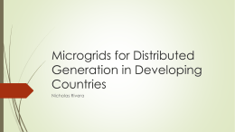 Microgrids for Distributed Generation in Developing