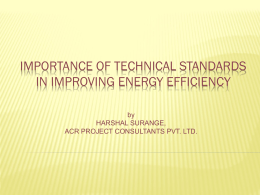 Mr. Harshal Surange, Member, Technical Standard Committee