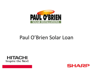 Sharp Hitachi Solar Loan Presentation