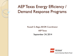 AEP Efficiency Programs Presentation