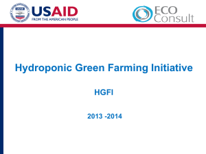 Hydroponics and high-value agricultural production, Mr