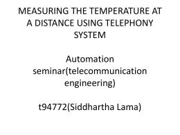 Remote temperature measurement () / opponent: Toni