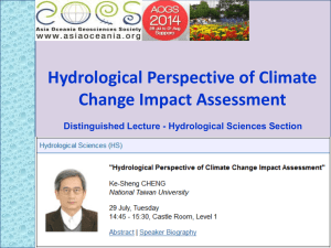 Hydrological Perspective of Climate Change Impact
