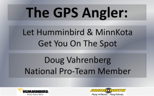 The GPS Angler: - Doug Vahrenberg