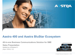 Aastra 400 Series of Communication Servers