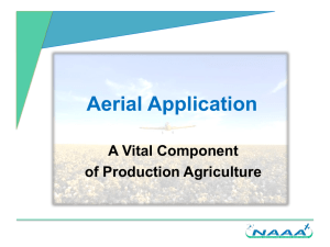 Aerial Application - National Agricultural Aviation Association